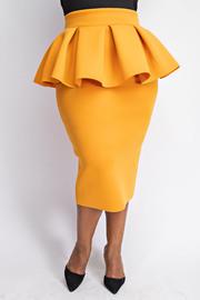 Plus Size Long peplum skirt.