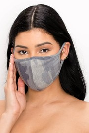 Unisex fabric reusable mask with filter pockets.
