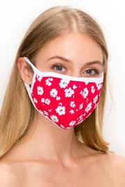 Unisex fabric reusable mask with Filter Pocket floral print.