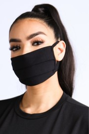 Side Pleated essential cotton mask.