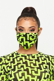 Double layered fashion mask.