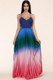 A dip dyed rainbow maxi dress