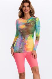 Multi color Tie dye long sleeve top