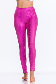 Metallic snake high waist leggins.