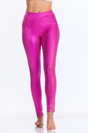 Metallic snake high waist leggins.