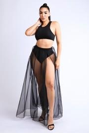 Organza maxi skirt top set.