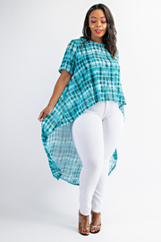 Plus Size Short sleeve hi-low top.