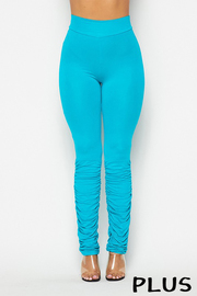Plus Size Ruched bottom leggings