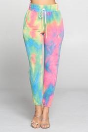 Colorful long pants.