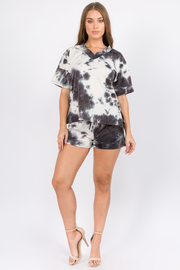 2 Pcs Set Tiedye Baby french terry Top & Short set.