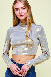 Long Sleeve Crop Top.