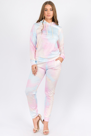 Tiedye 2 Piece set Long sleeve hoodie top and Pants.
