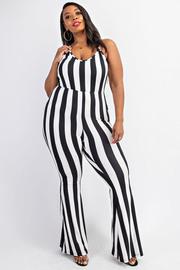 Plus Size Cami flare jumpsuit.