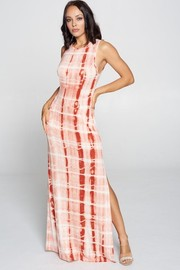 Tiedye Maxi slit maxi dress.
