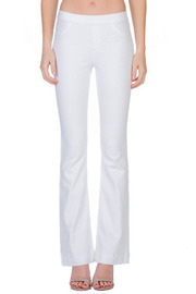 White wash flare jeggings.