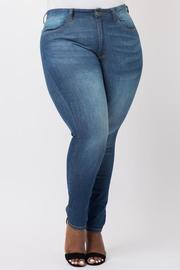 Plus Size High waist denim jean.