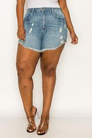 Plus Size Denim Short.