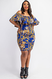 Plus Size Off shoulder Dress.