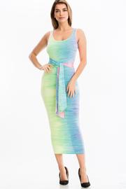 Tie Front Maxi Dress.