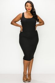 Plus Size Basic Knit Dress.