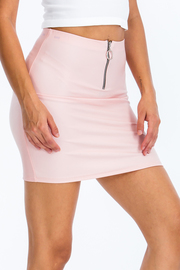 Half Zip Pu Skirt.