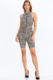 Animal Print Mesh Catsuit.