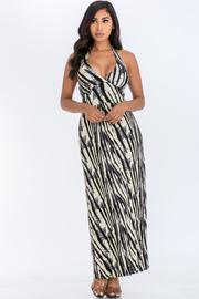 Halter Print Maxi dress.