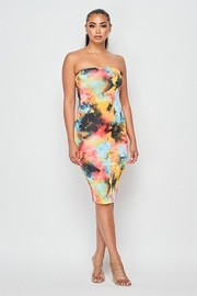 Tiedye midi tube dress.