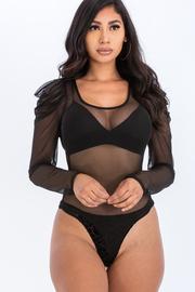 Solid mesh bodysuit.