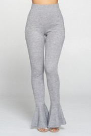 Hight Waist Pant with flare on bottom. Thermal Cashmere Fabric.