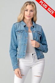 Plus Size Denim Jacket.