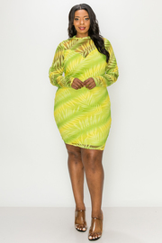 Plus Size Long sleeve mini dress with lining.