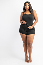 Plus Size Cami top and boy shorts set.