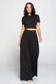 2 Pcs Short Sleeve top & Long Skirt Set.