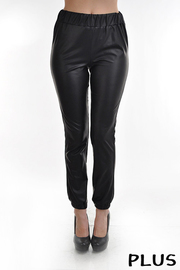 Plus Size PU Leggings Stretchy.