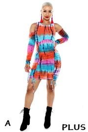 Plus Size Sublimation Ruched Dress.