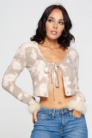 Long Sleeve Top with Fur.