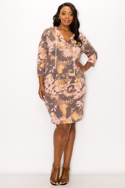 Plus Size Tiedye Hoodie Dress.