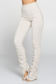 High Waist Ruch Bottom Pants with Pocket.