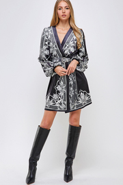 Velvet Robe style mini Dress.