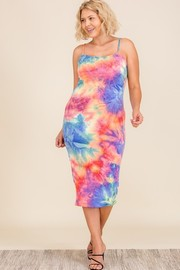 Plus Size Tiedye Spaghttie Strap Dress.