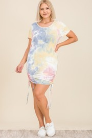 Plus Size Tie Dye S/S Dress.