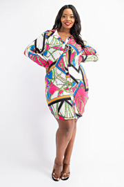 Plus Size Fitted Short Dress.