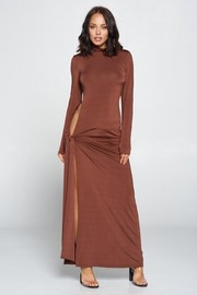 Solid Long Sleeve Maxi Sexy Dress.