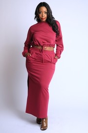 Plus Size Maxi Skirt Lounge Set.