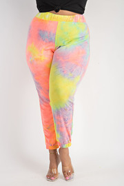 Plus Size Tie Dye Jogger Pants.