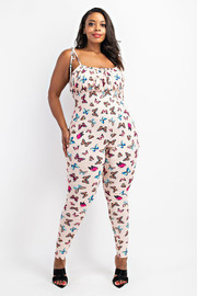 73566-2	Plus Size Cami Shirred front Jumpsuit.