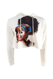 Hoodie Women Afro Sweater Top.