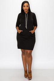 Plus Size Hoodie Dress.