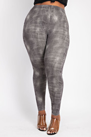 Plus Size Denim Look Leggings.